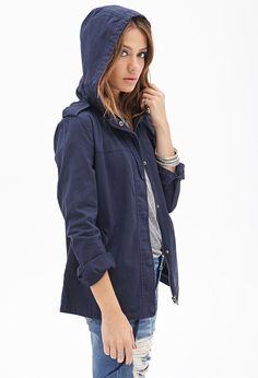Hooded Utility Jacket | FOREVER21 - 2000137368