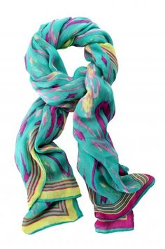 Stella & Dot Palm Springs Scarf - Turquoise Ikat