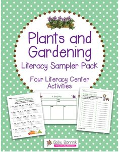 Free Worksheets: Garden Themed Literacy Printables