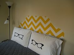 His/Her glasses pillow.
