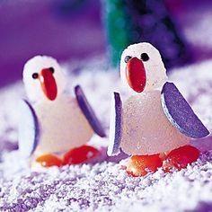 Edible Christmas Decorations: Gumdrop Penguins | Christmas Candy Crafts | FamilyFun