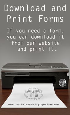 Download and print Social Security forms