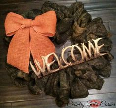 Hey, I found this really awesome Etsy listing at https://www.etsy.com/listing/169425260/camo-welcome-wreath