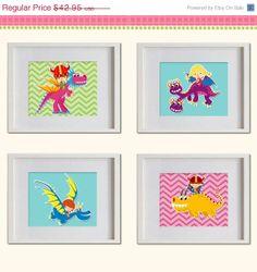 ON SALE Dragons Warriors Nursery Art Print  by MadeForYouPrints, $37.95