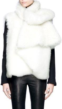 HAIDER ACKERMANN Wrapped Lamb Fur Vest - Lyst