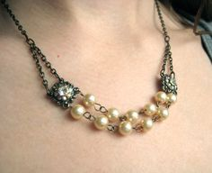 Antique Pearl Necklace - Little White Chapel