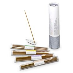 NATURAL RITUALS™ AROMATHERAPY JAPANESE INCENSE GIFT SET Made in Japan using century-old incense making techniques! Set includes 60 sticks, 15 of each Natural Rituals fragrance: Calm, Refresh, Meditate, Energize. Each stick lasts approximately 25 minutes. With leaf-shaped porcelain incense holder and giftable box.