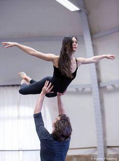 Alice Renavand & Hervé Moreau rehearsing Le Parc (Agathe Poupeney)