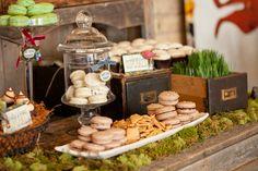 nature inspired wedding dessert buffet