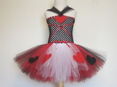 Queen of Hearts Costume Tutu Dress Baby Girls by AmericanBlossoms, $60.00