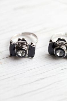 Black Camera Ring via Etsy. love it!!