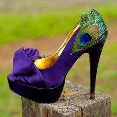 Women+Lady+Fashion:+Elegant+Peep-Toe+Peacock+Feather+Stiletto+Heel+Pro...