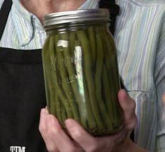 Pickled Green Beans So much tastier then ordinary pickles!