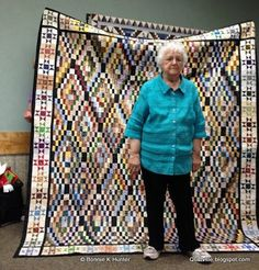 Show & Share from Maine!  Some great Bonnie Hunter borders (and quilts, too)!