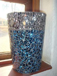 Gem Glass Mosaic: DIY Mosaic Flower Pot.