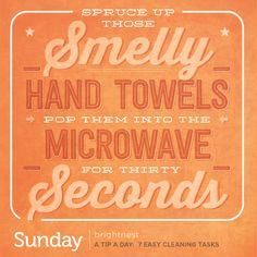 A Tip a Day: 7 Easy Cleaning Tasks Worth Trying household, hand towels