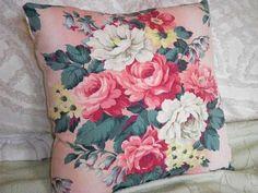 barkcloth pillow