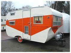 orange you glad, lunches, paint designs, oranges, paints, lunch tongu, orange crush, vintag camper, vintage campers