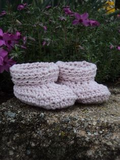 Cashmere Baby Booties Pale Pink by WendysWonders127 on Etsy, $18.00