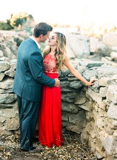 Rustic red wedding inspiration  | photo by  Jen Wojcik Photography | 100 Layer Cake