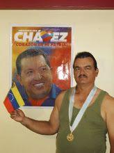 con mi líder político HUGO CHAVEZ.