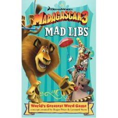 Madagascar 3 Mad Libs $3.99