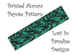 Peyote Bracelet Pattern - Twisted Aurora Peyote Stitch Pattern (Buy 2 get one Free). $6.50, via Etsy.