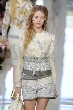 Tory Burch NYFW 2013  daphne is this the circle fabric we were looking at for baby bedding??