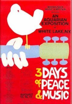 Flyer for Woodstock, 1969