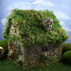 A side view of our retired Fern Grove Fairy House.