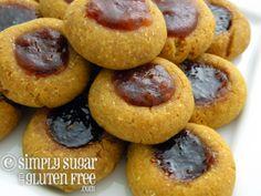 Recipe for Gluten Free, Sugar Free Recipe for Gluten-Free, Sugar-Free Almond Butter & Jelly Cookies