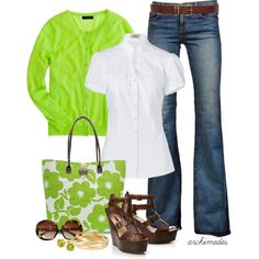 """Springy Green"" by archimedes16 on Polyvore"