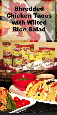 Make Delicious Shredded Chicken Tacos with Wilted Rice Salad #FamilyFunNight
