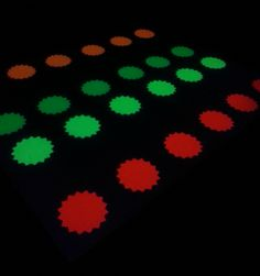 Glow in the dark/ Black light party : Twister.....(any neon paper will glow, like poster board, or garage sale label signs)