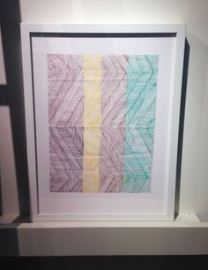 One of artist and textile designer Elodie Blanchard's original hand sketches, created along the journey toward her eponymous collection for @Corey N Heather Fillingame & HBF Textiles. NeoCon 2014