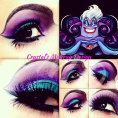 ursula makeup tutorial - I should do this.  These are my colors.