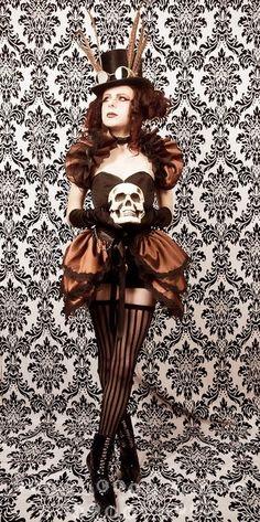 Copper Taffeta Bustle Skirt