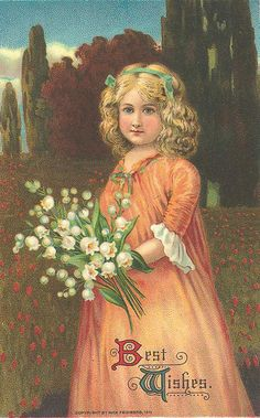 girl with lily of the valley