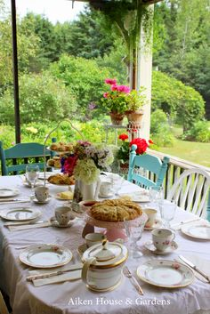 Aiken House & Gardens ~ summer garden tea party