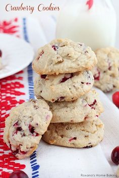 Soft cranberry cookies