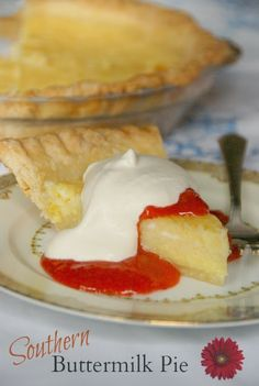 Buttermilk Pies... don't let the name fool you. Like custard with ...