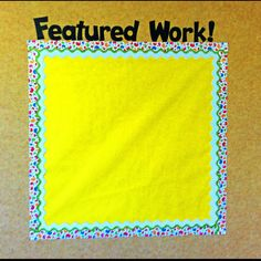 My new way to show off student's awesome, amazing, A+ work!! Can't wait to start using it.