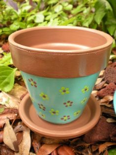 I love hand painted terracotta pots.