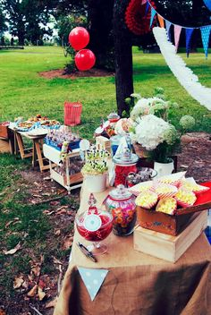 Outdoor birthday party for a little boy