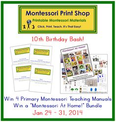 Great Giveaway! birthday bash, happy birthdays, kinderkram, giveaway, 10th birthday, contest, homeschool, montessori print, giveway