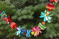 cute garland for a kids tree