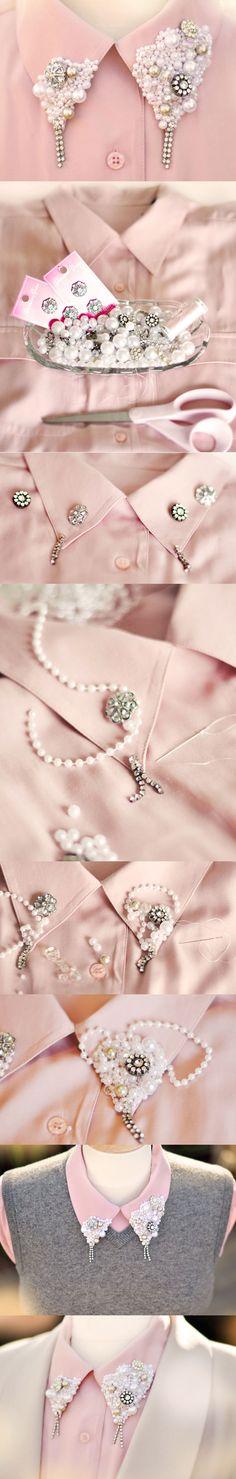 DIY: Create your collar to look beautiful