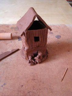 Как сделать домик из глины