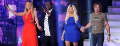 "L-R: ""American Idol"" judges Mariah Carey, Randy Jackson, Nicki Minaj, and Keith Urban (Fox via Getty Images)"