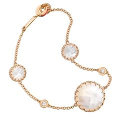 Ivanka Trump bracelet in 18k rose gold with mother-of-pearl and diamonds